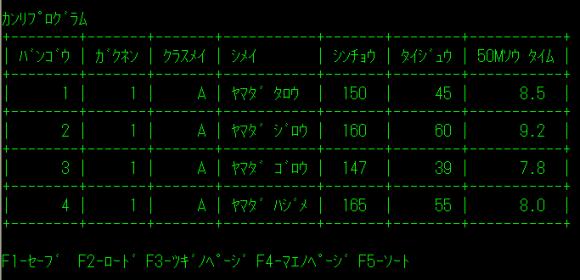 管理プログラムのイメージ
