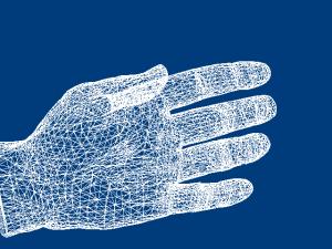 ワイヤーフレームの手