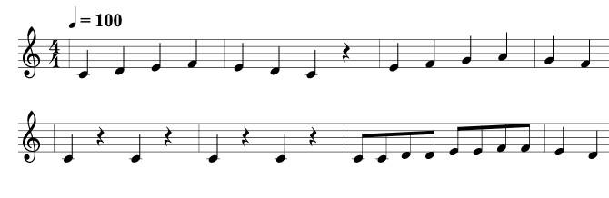 かえるの歌の楽譜
