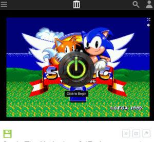 ゲーム起動画面